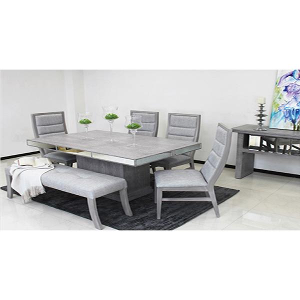 Comedores y antecomedores elegance 4 sillas con banca for Comedores modernos con banca